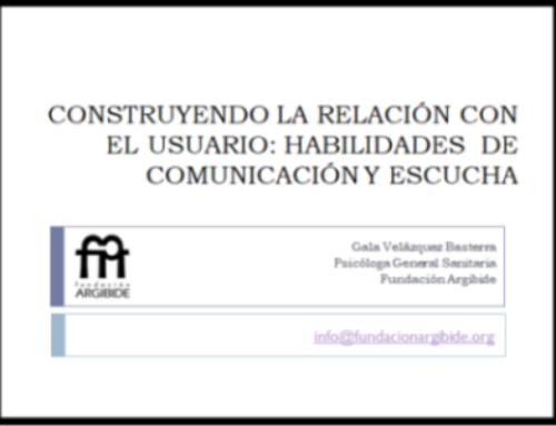 Formación realizada a profesionales de los Servicios Sociales del Ayuntamiento de Pamplona, sobre la Salud Mental y Habilidades de la Comunicación.