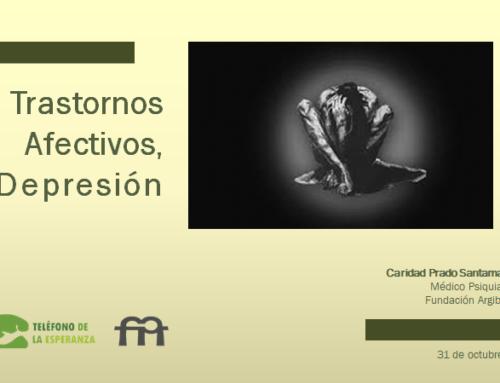 Formación a los voluntarios del Teléfono de la Esperanza; quinta sesión a cargo de Caridad Prado sobre Trastornos Afectivos, Depresión.